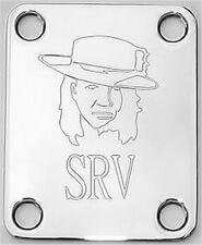 GUITAR NECK PLATE Custom Engraved Fit Fender - STEVIE RAY VAUGHAN SRV - CHROME
