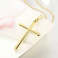 Fashion Simplicity 18K Gold Plated Jewelry Gift  Cross Pendant Chain Necklace