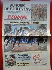 journal  l'équipe 05/07/96 CYCLISME TOUR DE FRANCE 1996 BLIJLEVENS JOHNSON