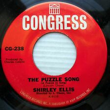 SHIRLEY ELLIS soul 45 THE PUZZLE SONG / I SEE IT I LIKE IT I WANT IT vg++ e0959