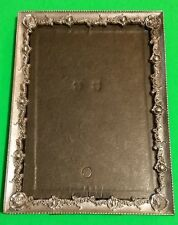 """Metal Picture Photo frame, 5"""" x 7"""" Filigree Roses Art Deco Nouveau Pewter Look"""