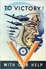 WW2 - Photo affiche canadienne - To Victory with our Help - Vers la Victoire ...