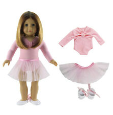 Hot Handmade Pink Clothes Dress Fit for 18 Inch American Girl Dolls