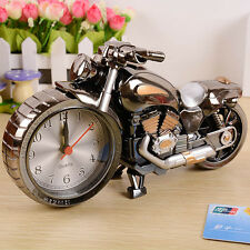 Motorcycle Cartoon Alarm Clock Home Decor Art Craft Creative Desktop Table Clock