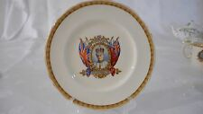 "RARE 1937 CROWNED CORONATION KING EDWARD VIII GRINDLEY CREAMPETAL 8"" ROUND PLATE"