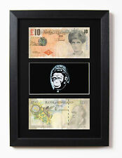 FRAMED & MOUNTED BANKSY DI FACED TENNERS & MONKEY QUEEN PRINT £10
