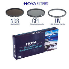 Hoya Digital Filter Kit Set HMC UV + Polarizer CPL + Graufilter NDx8 52mm 52