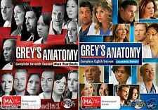 Grey's Anatomy COMPLETE Seasons 7 & 8 : NEW DVD