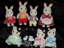 Vintage Sylvanian Families Calico Critters Epoch 1985 Lot of 9-Cat Bunny Clothes