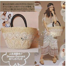 Women Lace Straw Beach Tote Bag Hobo Shoulder Bag Handbag Magazine Appendix Bag