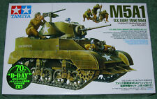 TAMIYA 1/35 U.S. M5A1 LIGHT TANK NEW MINT & SEALED