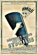 Art Ad Syphilis Deco Poster Print