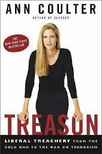 Treason : by ANN COULTER 2003 Edition Hard Cover Book
