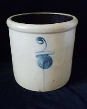 Antique RED WING 2 Gallon TARGET Salt Glaze STONEWARE Crock