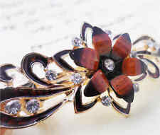 60MM crystal resin Flower hair barrette clip Hairpin  SF302