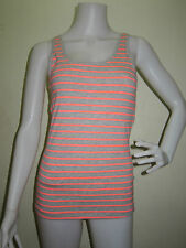 H&M Tank Top STRIPES XS Pink & Gray