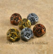 NEW Set of 6 Olympic Pearlized D12 Gold Silver Bronze RPG D&D Game 12 Sided Dice