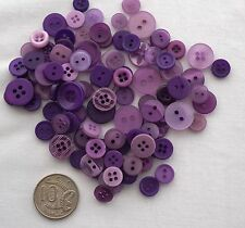 50 NEW SMALL BUTTONS LILAC MIX Pack - CURRENTLY REDUCED BY 10%