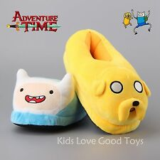 "11"" Adventure Time with Finn and Jake Soft Plush Slippers Shoes Gift Freesize"