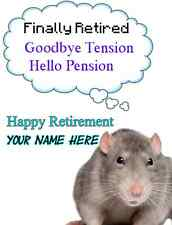 Rat Happy Retirement A5 Greeting Card PIDcat1 bubble thoughts card mum friends