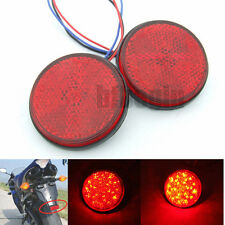 2x Car Motorcycle 24 LED Brake Turn Signal Stop Tail Light Round reflectors Lamp
