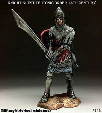 Tin soldiers 54 mm Knight guest Teutonic order 14th century HAND PAINTED