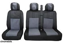 GREY BLACK FABRIC SEAT COVERS 2+1 FOR OPEL VAUXHALL VIVARO NEW