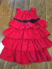 Toddler Girl Baby Gap Red Christmas Holiday Ruffle Tulle Dress Sz 3T