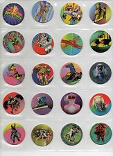 40 POWER RANGERS Power Caps Collect a card 1995 Tazos Pogs Complete set