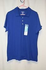 Womens Shirt Size XL By Riders Lee Blue Polo Buttons Short Sleeve NWT Pull Over