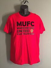 Manchester United Futbol Club Old Trafford MUFC Soccer Large L Red T-shirt EUC