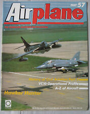 Airplane Issue 57 Hawker Hunter Cutaway drawing & poster, Vickers VC10 Tanker