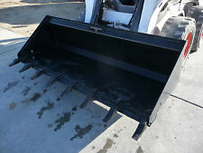 "Bobcat Skid Steer Attachment 84"" Low Profile Tooth Bucket - Shipping Cost $199"