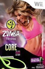 Nintendo Wii Zumba Fitness Core + exclusivo cinturón utilizada
