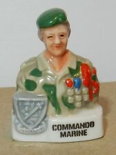 RARE CHARM MILITARY FEVE BUSTE PERSONNAGE MILITAIRE SOLDAT COMMANDO MARINE