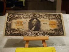 1922 $20 GOLD CERTIFICATE,VF CONDITION,BRIGHT NOTE,FR# 1187,GREAT EYE APPEAL