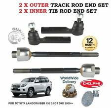 FOR TOYOTA LANDCRUISER 150 3.0DT D4D 2009  2x OUTER + 2x INNER TIE TRACK ROD END