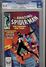 AMAZING SPIDER-MAN #252 1ST APPEARANCE OF THE BLACK COSTUME 1984 CGC 8.0