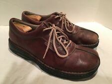 Men's Merrell Shoes World Summit Brown Leather Oxford Size 10.5 Lace Up Used A