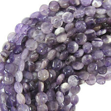 """10mm amethyst coin beads 15.5"""" strand"""