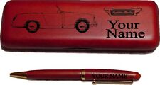 Austin Healey Sprite Roadster Rosewood Pen & Case Laser Engraved - Great Quality