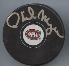 PHIL MYRE SIGNED MONTREAL CANADIENS HOCKEY PUCK w/ COA
