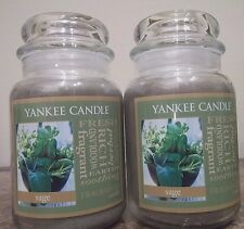 Lot of 2 Yankee Candle NEW  Fresh  Sage   22 oz. Candles #2     Free Shipping