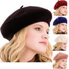 French Style Hats Vintage Men Women Wool Winter Warmer Hat Beret Beanie Cap