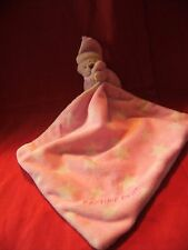 """pink and white stars teddy bear, My Bedtime Blankie comforter no make , 11"""" app"""
