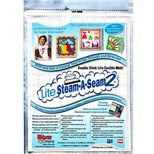 Lite Steam -A-Seam 2  Double Stick Fusible Web  Perfect for Applique