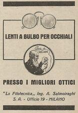 Z2139 La Filotecnica Ing. Salmoiraghi - Lenti a bulbo - Pubblicità d'epoca - Adv
