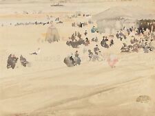 JAMES MCNEILL WHISTLER BEACH SCENE OLD ART PAINTING POSTER PRINT BB5787A