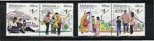 MALAYSIA 2013 NATIONAL UNITY COMP. SET OF 4 STAMPS IN MINT UNUSED CONDITION