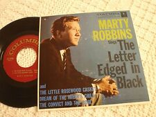 MARTY ROBBINS  COLUMBIA EP 2153 THE LETTER EDGED IN BLACK/CONVICT & ROSE & 2